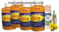 4 PCS X 8 OZ ARNICA MONTANA GEL CREAM PAIN RELIEF BRUISES MUSCLE ACHES NATURAL