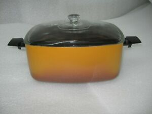 HTF West Bend Slow Cooker Autumn Gold Replacement 6 Quart Metal Pan Glass Lid