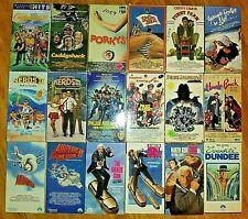 VHS TAPE lot of 18 > 80's CULT COMEDY CLASSICS **Some RARE & HTF** EX