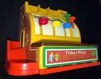 Vintage 1974 Fisher Price Cash Register Toy Bell  6 Coins