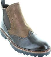 Marco Tozzi 2-25414-39 Women's Pull On Chelsea Wingtip Brogue Ankle Boots New