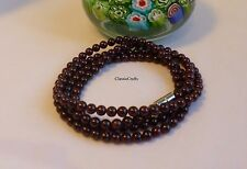 Certified A grade dark red 4-5mm garnet 4-layer bracelet/necklace, gemstone