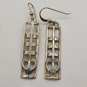 Sterling Silver Earrings Kit Heath Mackintosh Style 5.7g