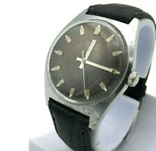 Mechanical USSR POLJOT Black Watch Vintage Men Analog SERVICED Rare Russia MCHZ1