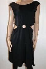 ASOS Brand Black Keyhole Sleeveless Skater Dress Size 18 BNWT #SB75