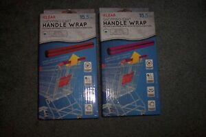 Klear Reusable Shopping Cart Black  Handle Wrap Washable With Reusable Case 2x
