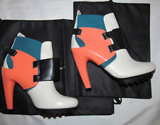 UN UNITED NUDE HYBRID EROS WINTER color block ankle high heel shoes 6 NEW