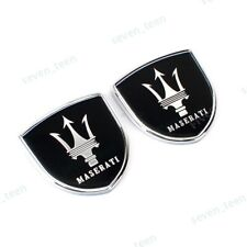 2x Car Side Fender Emblems Rear Stickers Decals Badge Styling Logo For Maserati