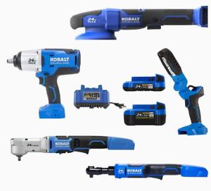 Kobalt 24-Volt Max Brushless Mechanics 5-Tool Combo Kit