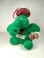 "Loch Ness Monster 5"" Plush Nessie Ornament Tartan Scales-Hat-Tie Import W/Tags"