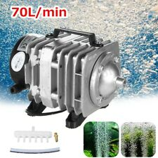 45W Electromagnetic Air Pump Aerator Oxygen Aquarium Fish Koi Pond Compressor
