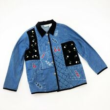 deab1a83dd BLAIR 220 Hickory Quilted Denim and Tapestry Jacket Womens Sz M