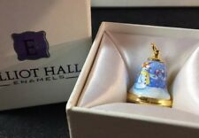 Elliot Hall Enamels One Of A Kind Snowman Bell Charm By Elizabeth Todd
