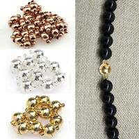 10Sets Bracelet Buckle Necklace Magnetic Clasp Round Ball Jewellery Accessories
