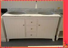 Antique Bathroom Vanity Aldrec1500 White Cabinet Marble or Granite Top