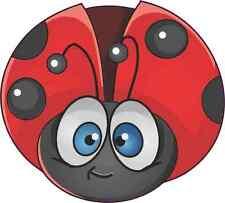 5 X 4.5 Red Ladybug Sticker Vinyl Cup Decal Car Truck Animal Bumper Stickers