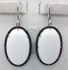 SOLID 925 SILVER WHITE AGATE & ZIRCON LIME QUARTZ Earring EE11