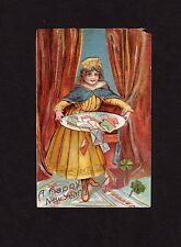 New Year Postcards charming young woman, huge platter of envelopes