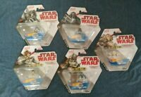 Disney Hot Wheels Star Wars Battle Rollers Die Cast Vehicles collectible 5 pack