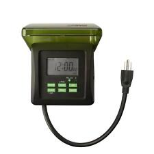 Digital Dual Outlet Timer 7 Day 15 Amp Outdoor Heavy Duty Control Pool Pumps