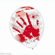 Blood Splatter & Hands Printed latex Balloons Halloween Decoration 30cm pck of 6