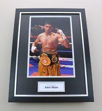Amir Khan Signed Photo Framed 16x12 Boxing Autograph Memorabilia Display + COA