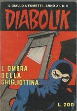 DIABOLIK ORIGINALE ANNO XI - 11 ° #   6  - 1972- - OTTIMO [ rif  MG ]