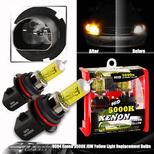 Universal 9004/HB1 Yellow 2500K 65/55w 12v Xenon Halogen High and Low Beam Bulbs