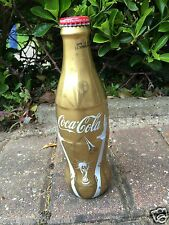 Gold Coca Cola Wrapped World Cup Bottle Glass - FULL With Cap