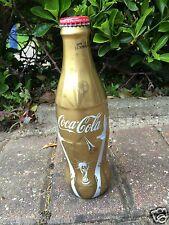 doré COCA COLA enveloppé COUPE DU MONDE bouteille verre - complète avec capuchon
