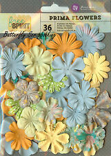 Prima Flowers 36 Flowers Free Spirit Collection Scrapbooking Prima 574185 NEW