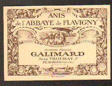 "FLAVIGNY (21) BONBON ""ANIS DE L'ABBAYE DE FLAVIGNY"" , ""GALIMARD / Jean TROUBAT"""
