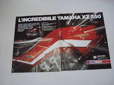 advertising Pubblicità 1982 MOTO YAMAHA XZ 550