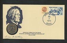 US Postal History Numismatic Anthony Dollar 1 One SBA FDC PNC 1979 Denver CO