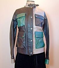 Authentic Belstaff Gold Label Multicolor Brad Leather Jacket EU 42 Made In Italy