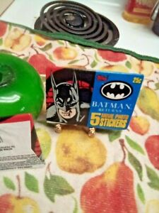 (3) Batman Returns Movie Photo Stickers Topps Unopened Packs 🆓 Misc Cards.
