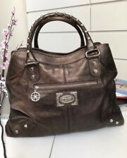Auth Silvio Tossi Leather Handbag Shoulder Bag Bronze
