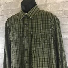 Austin Clothing Co. Plaid Green Long Sleeve Cotton Casual Shirt Size XL
