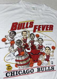 Vintage Salem Chicago Bulls Fever NBA T-Shirt USA Made Size M IL Lottery Jordan