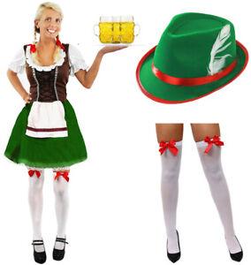 BAVARIAN BEER GIRL COSTUME OKTOBERFEST FANCY DRESS WOMENS GERMAN MAID WENCH