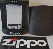 Zippo Lighter Slim High Polished Chrome 2007 New in box and Free Zippo Sticker