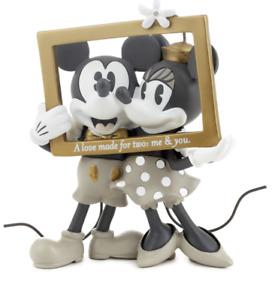 Hallmark Valentine Disney Mickey and Minnie Love Made for Two Figurine New