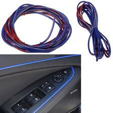 Molding Accessories Edge Gap Line Universal Car Interior Garnish 5M Point blue