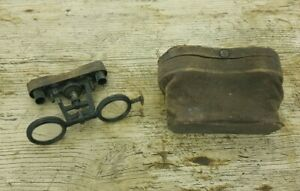 Vintage Pair of Damaged Opera Glasses in a Leather Case A/F for Restoration