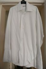 Vintage Turnbull & Asser White Shirt 17in Collar Double Cuff
