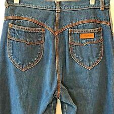 Vintage 1980s Gitano Blue Jeans Orange Contrast Stitch size 12S 30x26 Brazil P11