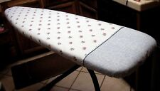 Custom Full Size Ironing Board Cover Powder Blue Print Lined Reversible!
