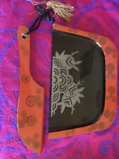 Vintage Retro Wooden lacquered crumb tray And Brush Chinese/Japanese