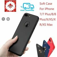 For iPhone XS X XR Max 8 7 Plus matte Ultra Slim Shockproof Bumper Silicone Case