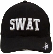 SWAT Cap In Black - Deluxe Low Profile Hat